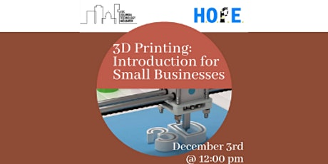 3D Printing: Introduction for Small Businesses tickets