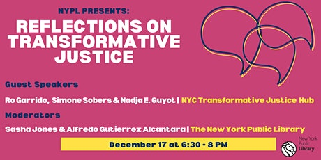 Reflections on Transformative Justice tickets