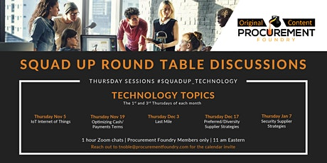 Squadup Round Table Discussion IT -  1st and 3rd Thursdays of the month tickets