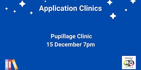 PUPILLAGE CLINIC tickets