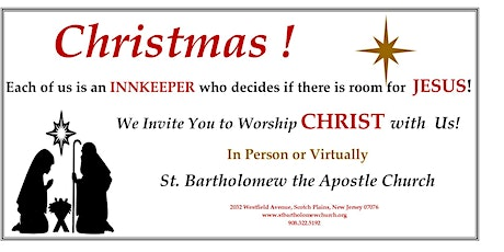 St. Bartholomew the Apostle - Masses for Christmas Eve and Day tickets