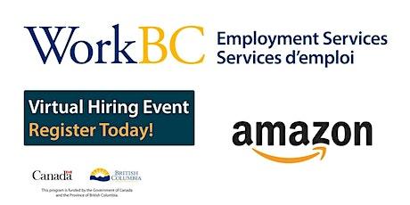 Hiring now!! WorkBC SSWR / Cloverdale – virtual hiring fair with Amazon tickets