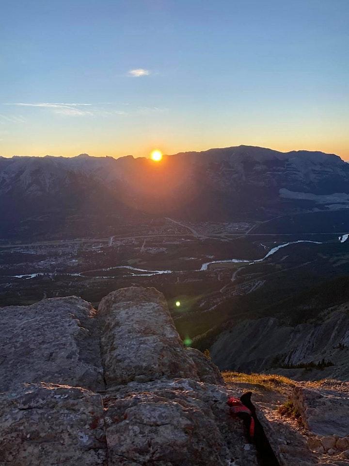 Sunrise hike- Ha Ling Intermediate guided hike image