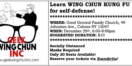 Learn WING CHUN KUNG FU for Self-Defense tickets