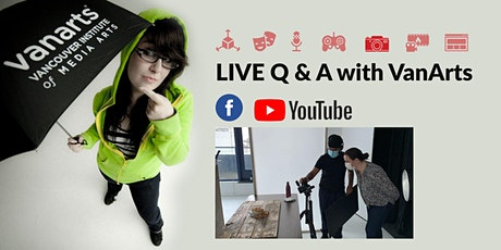 LIVE Q&A with VanArts - CAREER NIGHT: Professional Photography tickets