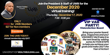 December 2020- University of Wealth Building - Monthly Training tickets
