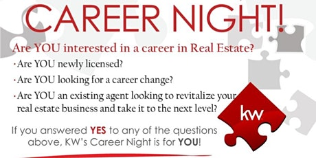 Career Night WEBINAR: Interested in a Career in Real Estate? tickets