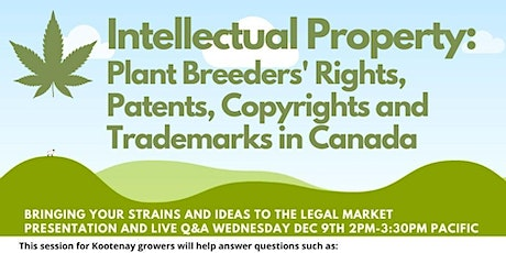 Plant Breeders' Rights, Copyrights and Trademarks in Canada tickets