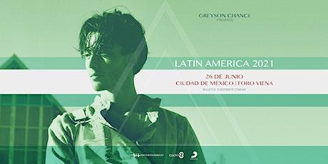 GREYSON CHANCE EN VIVO EN LA CIUDAD DE MÉXICO entradas