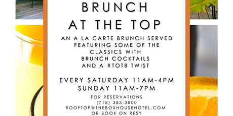Brunch at Top of The Box tickets