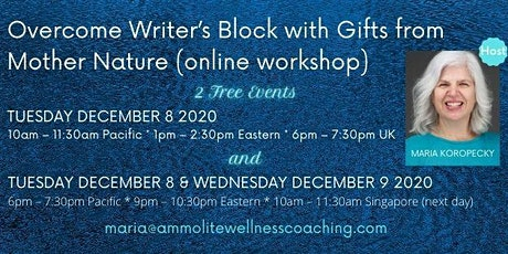 Overcome Writer's Block with Gifts from Mother Nature online workshop tickets