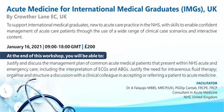 Acute Medicine for International Medical Graduates (IMGs), United Kingdom tickets