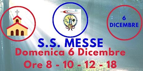 S.S. Messe DOMENICA 6 Dicembre 2020 biglietti