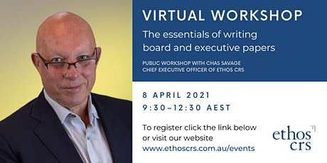 The essentials of writing board and executive papers – April tickets