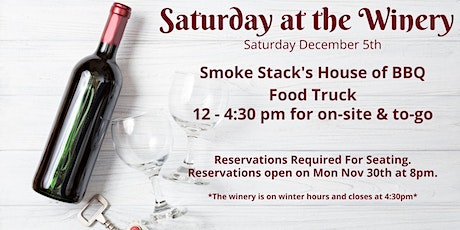 Winery Reservations (Free) Sat Dec 5th 2:30-4:30pm tickets