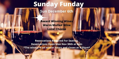 Winery Reservations (Free) Sun Dec 6th 12-2pm tickets