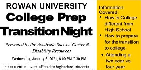 Rowan University College Prep Transition Night tickets