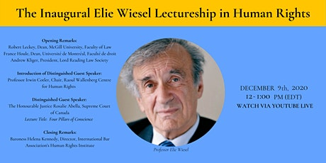 Inaugural Elie Wiesel Lectureship in Human Rights tickets