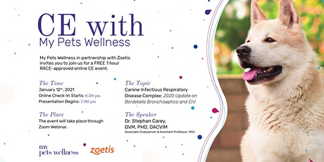 *NEW DATE* Free RACE CE Presented by Zoetis & My Pets Wellness tickets