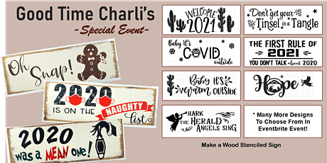 Good Time Charli's- Stencil Sign Event 12/20 tickets