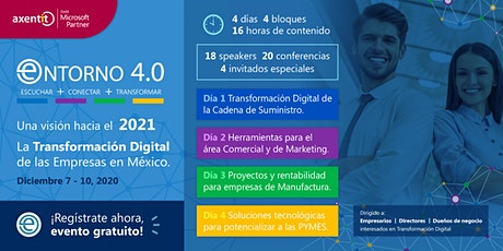 """Entorno 4.0. """"2021 La Transformación Digital de las Empresas en México"""" boletos"""