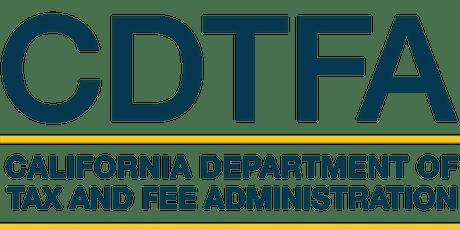 CDTFA Virtual Job Workshop with SETA tickets