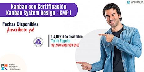 Curso de Certificación Kanban System Design boletos