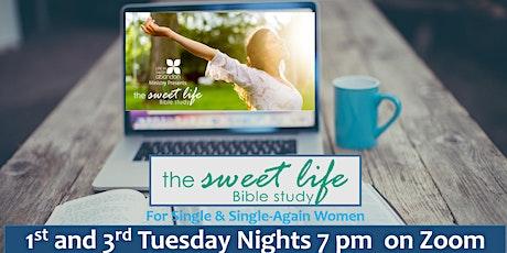 The Sweet Life Online Bible Study for Single/Single-Again Women Jan 19 2021 tickets
