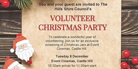 The Hills Shire Council Volunteer Christmas Party 2020 tickets