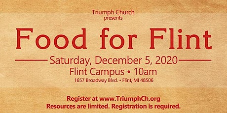Triumph FLINT's Crisis Care Food Giveaway tickets
