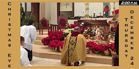 2:00 p.m. Christmas Eve Mass Reservation: Thursday 12/24/2020 tickets