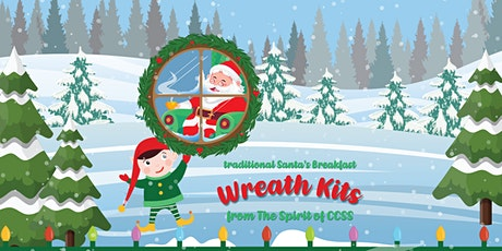 Traditional Santa's Breakfast Take-Home Wreath Kits from the CCSS tickets