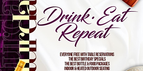 Drink•Eat•Repeat Brunch Party @ Taj II – Everyone FREE! B'day Specials! tickets