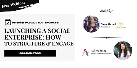 Launching A Social Enterprise: How To Structure & Engage With Impact tickets
