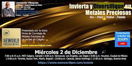 """Invierta y Diversifique en Metales Preciosos  """"ORO-PLATA-PLATINO–PALADIO"""" boletos"""