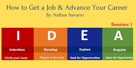 How to Get a Job & Advance Your CareerSession:1 tickets