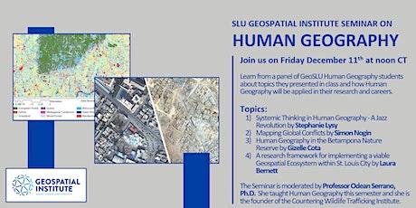 GeoSLU seminar:  Applying Human Geography in Academic Research & Careers tickets