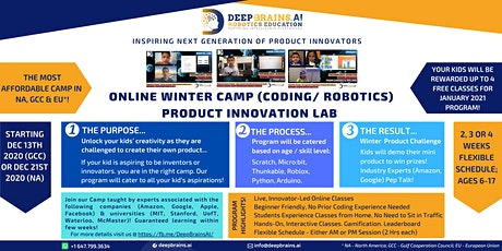 Ultimate Kids Virtual Winter Camp | Dec 21-23 & 28-30 | DeepBrains Robotics tickets