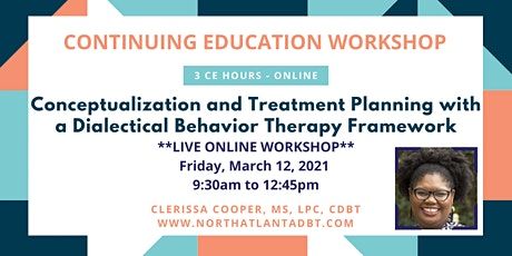 Case Conceptualization and Treatment Planning with a DBT Framework tickets