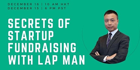 FoundersHK:  The Secrets Of Startup Fundraising with Lap Man tickets