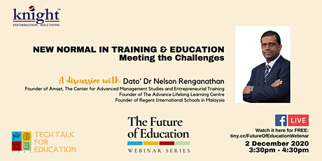 [FREE] The Future of Education: New Normal in Training & Education tickets