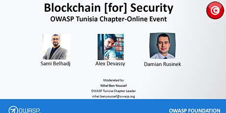 OWASP Tunisia online Event - Blockchain [for] Security tickets