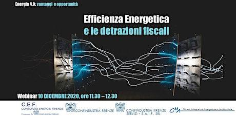 Efficienza energetica e le detrazioni fiscali biglietti