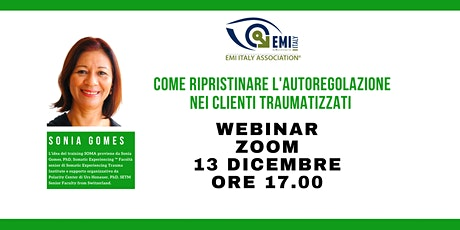 Come ripristinare l'autoregolazione nei clienti Traumatizzati -Sonia Gomes biglietti
