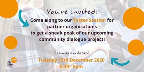 Faith & Belief Forum's Community Dialogue Project - Taster Session tickets
