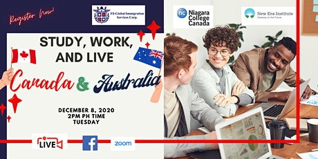 FREE WEBINAR: STUDY AND WORK IN CANADA ANDAUSTRALIA tickets