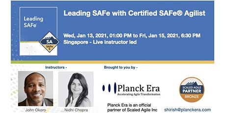 Leading SAFe 5.0 - Singapore - 13th January 2020 tickets