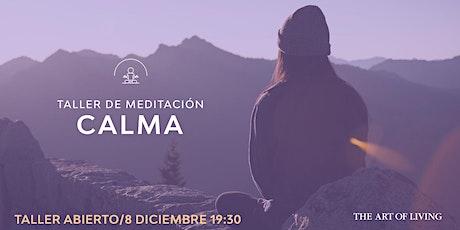 Taller de meditación: CALMA entradas