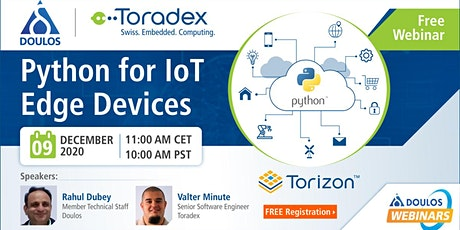 Webinar: Python for IoT Edge Devices tickets