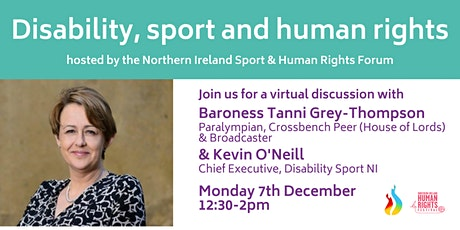 Disability, sport & human rights with Baroness Tanni Grey-Thompson tickets